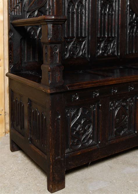 gothic bench antique french gothic hall bench at 1stdibs