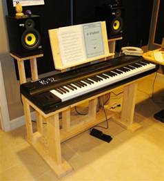 recording studio stuff diy keyboard desk stand