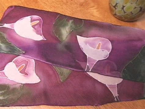 how to paint a silk scarf hgtv