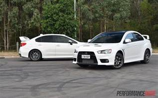 Evo Vs 2016 Mitsubishi Lancer Evolution Vs Subaru Wrx Sti
