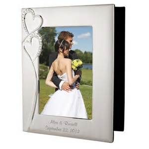 custom wedding photo album personalized wedding silver photo album with frame
