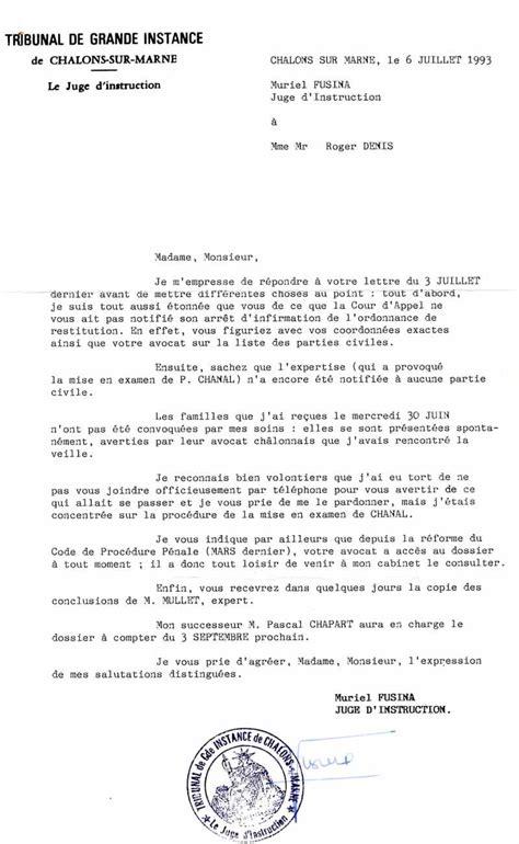 lettre officielle madame monsieur disparus de mourmelon courriers