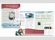 Tax Accounting Services Newsletter Template - Word & Publisher Holiday Gift Guide Microsoft