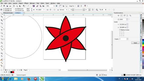 tutorial youtube corel draw tutorial membuat sharingan sasuke dengan corel draw youtube