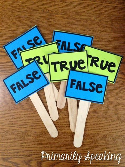true or false cards template these true false paddles from primarily speaking a