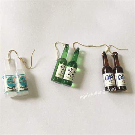 Soju Bottle Earrings mini bottles