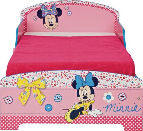 minnie mouse bed frame bedtime will be more appealing with this wood effect