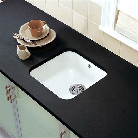 Ceramic Undermount Kitchen Sinks Astracast 4040 Lincoln Undermount Ceramic Kitchen Sink Sinks Taps