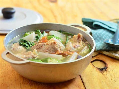 sinigang na baboy pork ribs sour soup recipe