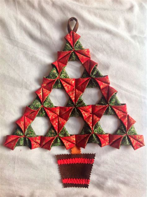 folded fabric christmas tree a tutorial september