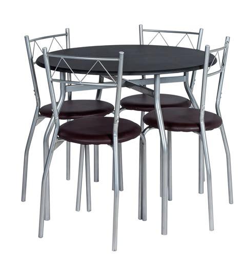 circular dining table for 4 home oslo circular dining table and 4 chairs black