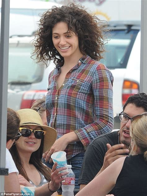 emmy rossum new hair emmy rossum revisits the eighties with corkscrew curls on
