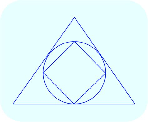 Triangle On Circle area of square inscribed in circle