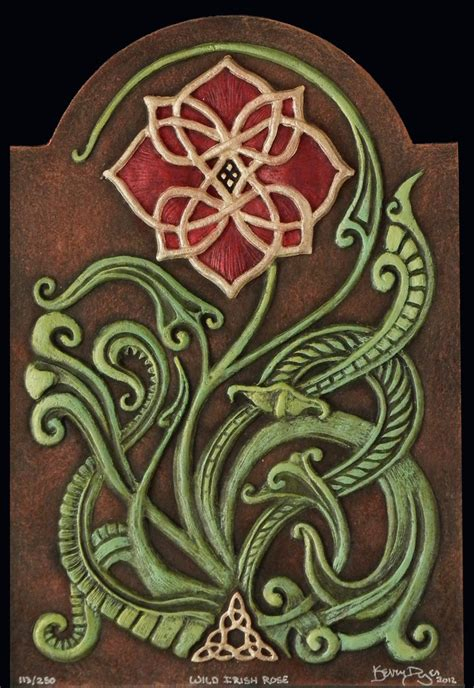 tattoo paper ireland wild irish rose cast paper irish art celtic flower