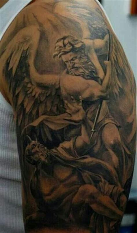 tattoo of us fight angel and devil fighting ink pinterest