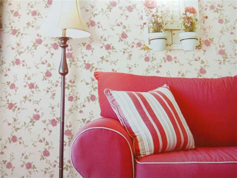 Wallpaper Dinding Stripe Bunga Eropa 103 wallpaper dinding kamar bunga wallpaper dinding