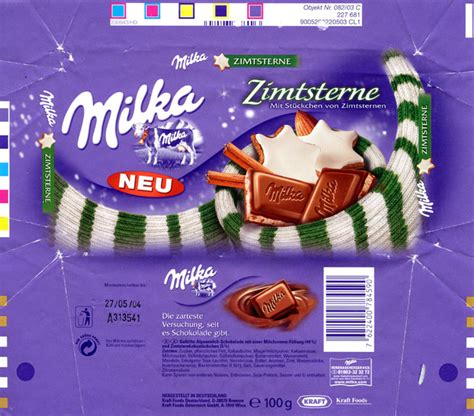 chocolate wrapper 3944 germany milka 2003