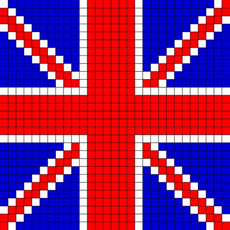 pattern of three english uk flag perler bead pattern bead sprites misc fuse