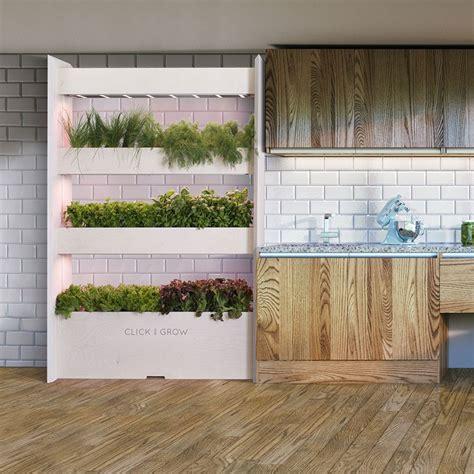 click grow wall farm indoor vertical garden petagadget