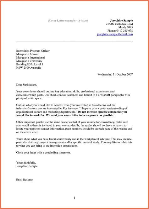 cover letter of exles of a cover letter for a resume bio exle