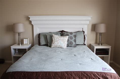 diy headboards white mantel moulding headboard diy projects