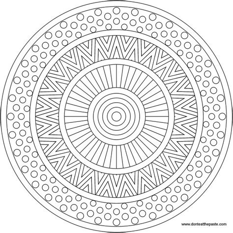 square mandala coloring pages easy square mandalas search design