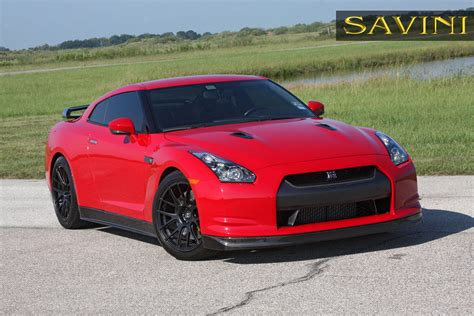 nissan gtr matte black and red gt r savini wheels