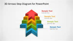 powerpoint diagram templates 3d arrows step diagram template for powerpoint slidemodel