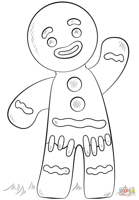 Gingerbread Man Coloring Page Free Printable Coloring Pages Gingerbread Coloring Page