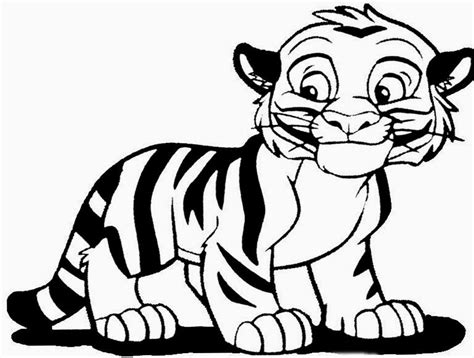 cute tiger free coloring pages on art coloring pages