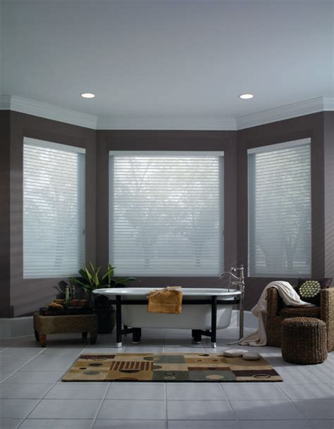 Modern Bathroom Blinds Sheer Shade Contemporary Bathroom Purple White