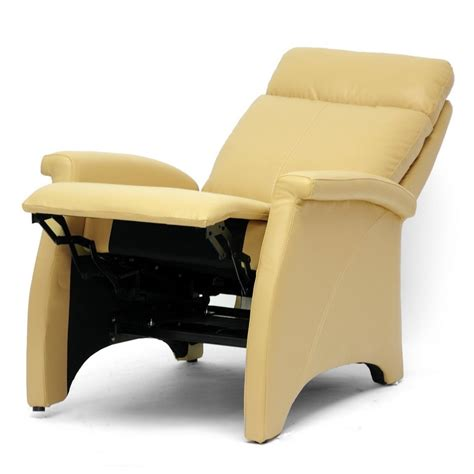 armchair recliners leather armchair recliner options leather recliner chairs cream yellow image 08