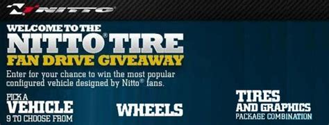 Tire Giveaway - hurry nitto s fan drive sweepstakes ends on december 31st lsx magazine