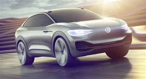 volkswagen electric concept volkswagen i d crozz concept shows the way for electric