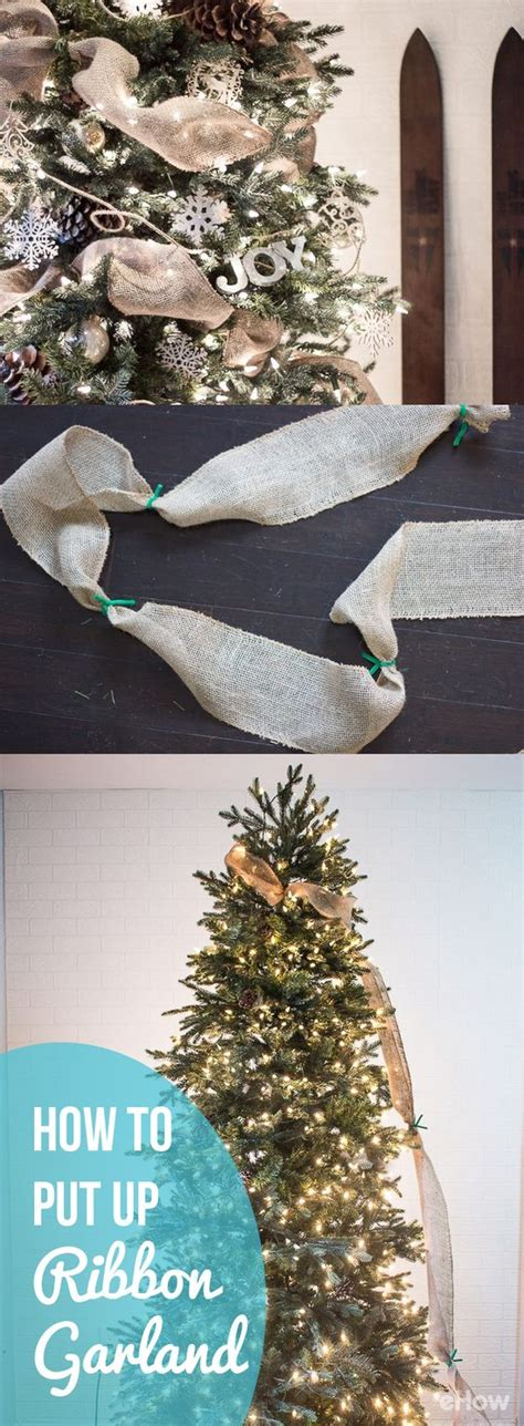 how to put mesh ribbon on a christmas tree how to put ribbon garland on a tree trees the present and ties