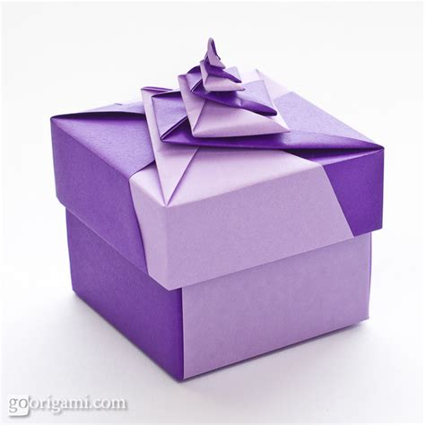 locked spiral square origami box go origami