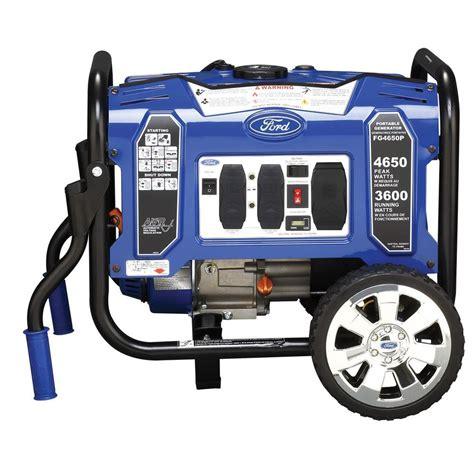 ford 4 650 watt gasoline powered portable generator