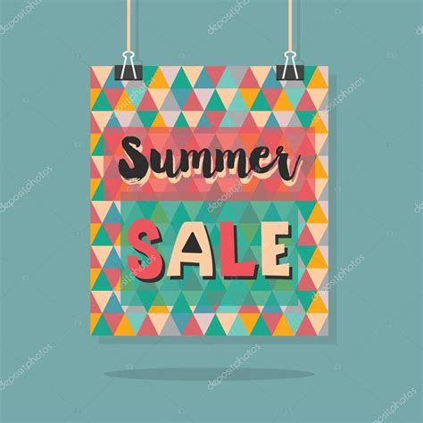 hanging poster stock illustration image 55507025 abstract retro summer sale message on hanging colorful