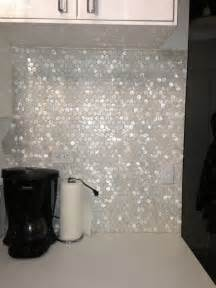 white hexagon pearl shell tile hexagons this and