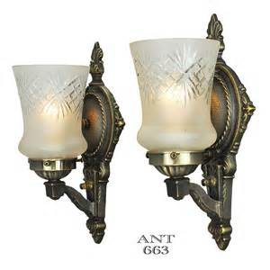 antique wall sconces lighting edwardian wall sconces pair of antique lights and cut