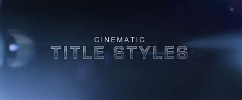 Free Cinematic Title Style Library For Premiere Pro Premiere Pro Intro Template