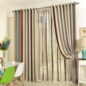 Striped Linen Curtains 2014 Quality Linen Living Room Striped Multi Color