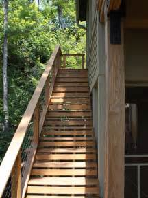 Wooden Stairs Design Outdoor Exterior Front Entrance Stair Ideas Home Design Inside