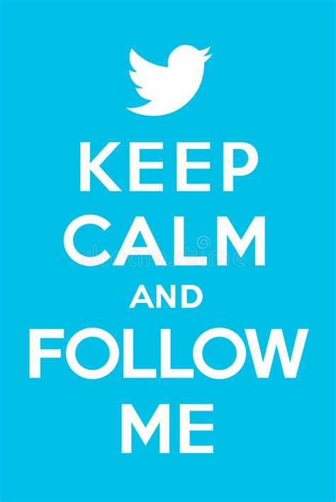 Follow Me 2 keep calm and follow me 2 editorial image image of