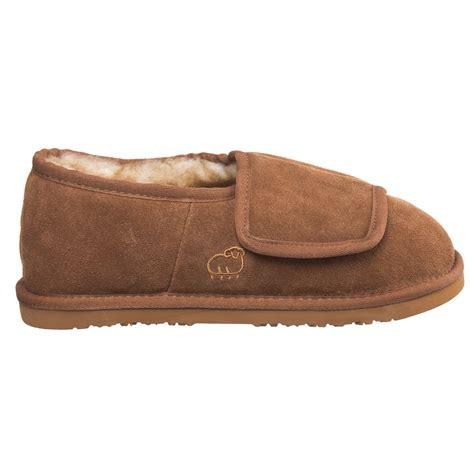 lamo mens slippers lamo sheepskin bootie wrap slipper s suede free ship