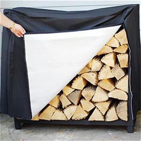 Wood Storage Rack Cover by 4 Firewood Storage Rack Cover Included