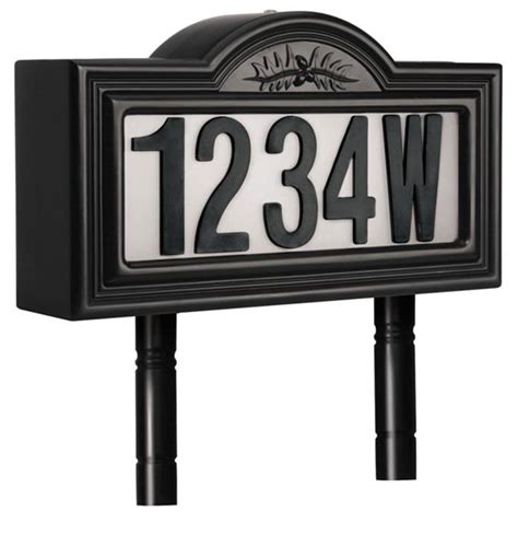 solar house numbers two sided solar house number light