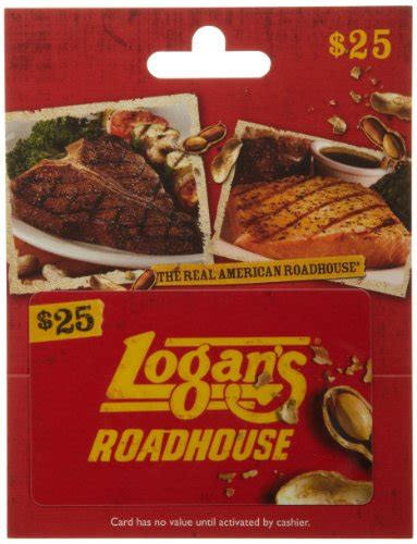 Logan S Gift Cards - logan s roadhouse gift card 25 arts entertainment party celebration giving cards