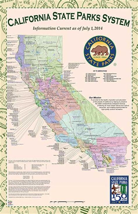 state parks map california state parks system map