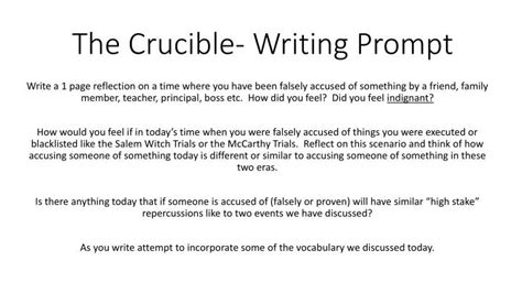 Introduction For The Crucible Essay by Introduction Paragraph For The Crucible Essay